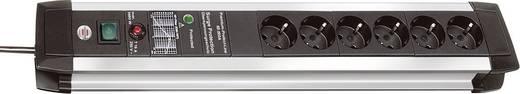 Überspannungsschutz-Steckdosenleiste 6fach Schwarz, Aluminium Schutzkontakt Brennenstuhl 1391000607