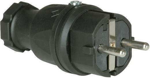 Schutzkontaktstecker Vollgummi 230 V Schwarz IP44 PCE 0512-s