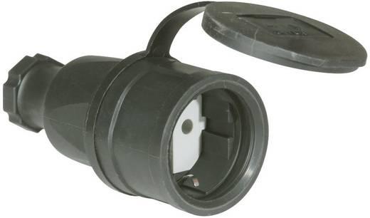 Schutzkontaktkupplung Gummi 230 V Schwarz IP44 PCE 2511-s
