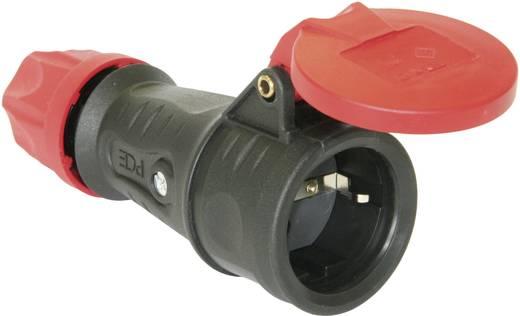 Schutzkontaktkupplung Gummi 230 V Schwarz IP44 PCE 25622-s