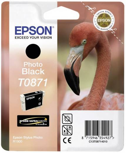 Epson Tinte T0871 Original Foto Schwarz C13T08714010