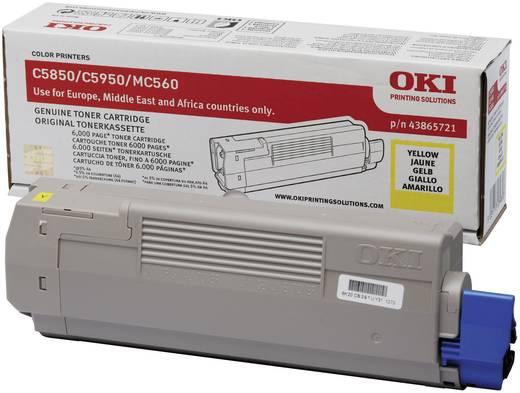 OKI Toner C5850 C5950 C6150 MC560 43865721 Original Gelb 6000 Seiten