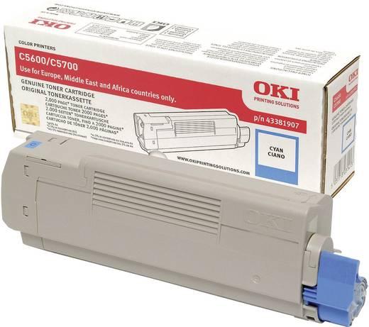 OKI Toner C5600 C5700 43381907 Original Cyan 2000 Seiten