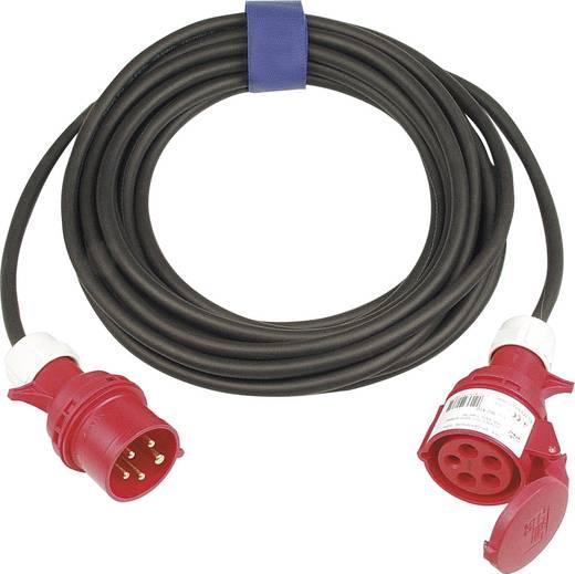 Strom Verlängerungskabel [ CEE-Stecker - CEE-Kupplung] 16 A Schwarz 10 m SIROX 362.410