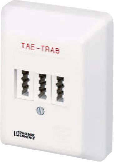 Überspannungsschutz-Anschlussdose Überspannungsschutz für: Tel/Fax (TAE) Phoenix Contact TAE-TRAB FM-NFN-AP 2749628 5 kA