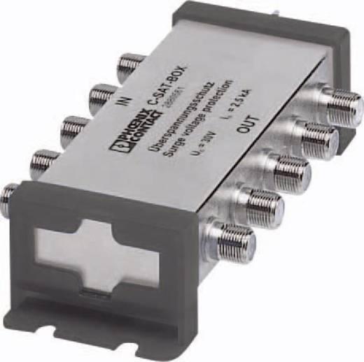 Überspannungsschutz-SAT-Verteiler Überspannungsschutz für: DVB-S, Sat (F-Stecker) Phoenix Contact C-SAT-BOX 2880561