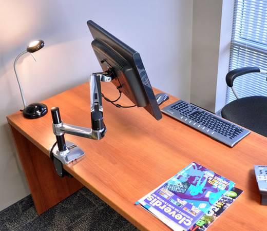 """Monitor-Tischhalterung 25,4 cm (10"""") - 81,3 cm (32"""") Neigbar+Schwenkbar, Rotierbar Ergotron LX LCD Arm für Tischmontage"""