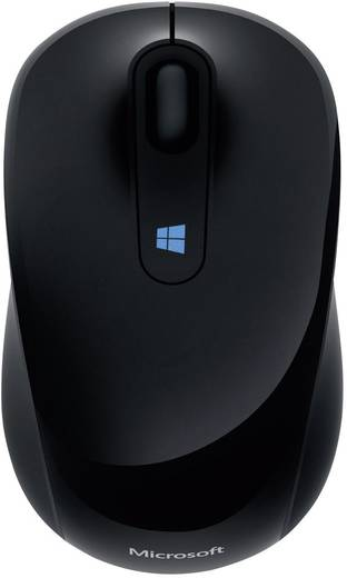 Funk-Maus Optisch Microsoft Sculpt Mobile Mouse Schwarz