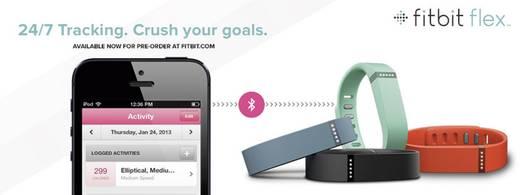 Fitness-Tracker FitBit Flex Größe=Uni Schwarz
