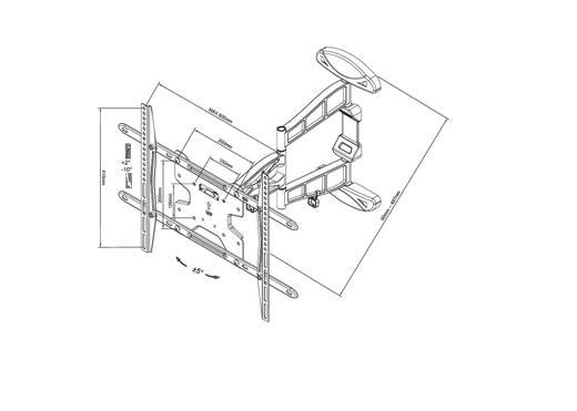 "TV-Wandhalterung 81,3 cm (32"") - 152,4 cm (60"") Neigbar+Schwenkbar, Rotierbar NewStar Products LED-W500"