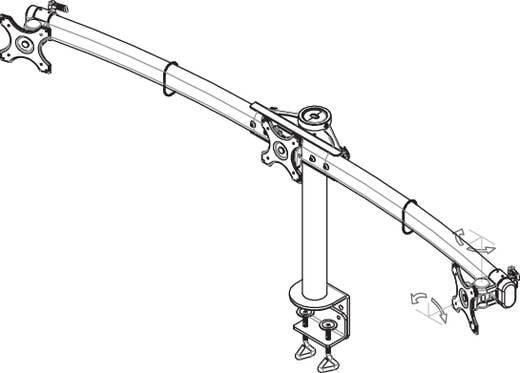 """3fach 25,4 cm (10"""") - 68,6 cm (27"""") Schwenkbar, Rotierbar NewStar Products Höhenverstellbar"""