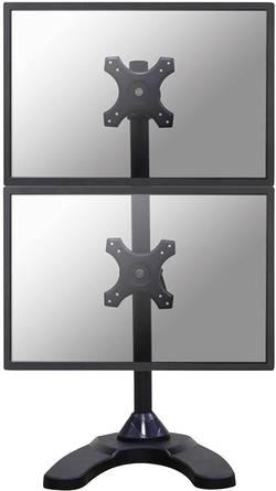 """Stolní držák se stojanem na 2 monitory nad sebou NewStar FPMA-D700DDV, 25,4 cm (10"""") - 68,6 cm (27""""), černá"""
