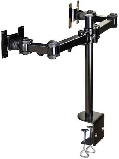 """2fach Monitor-Tischhalterung 25,4 cm (10"""") - 68,6 cm (27"""") Neigbar+Schwenkbar, Rotierbar NewStar Products FPMA-D960D Aus"""