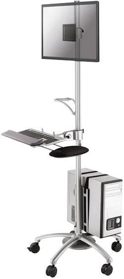 Mobilní PC stolek, NewStar FPMA-MOBILE1800, stříbrný