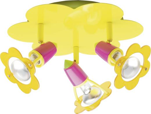 Deckenstrahler Blume Energiesparlampe, Halogen E14 120 W Brilliant Maya Gelb, Pink, Grün
