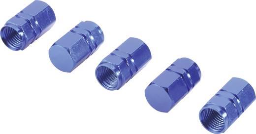 Ventilkappe 5er Set Blau