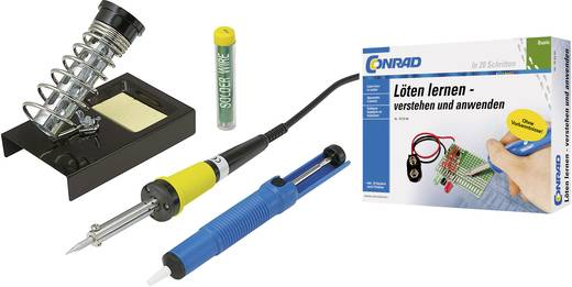 Lötkolben-Set 230 V 30 W Basetech ZD-30B Bleistiftform inkl. Lernpaket
