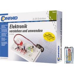 Výuková sada Conrad stavebnice Elektronika pre začiatočníkov + 9V batéria 616720 od 14 rokov