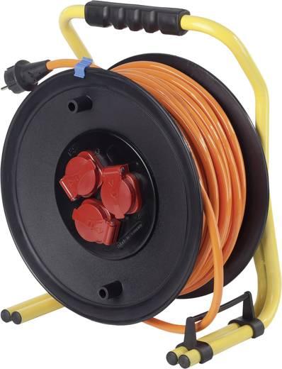 Kabeltrommel 50 m Orange Schutzkontakt-Stecker as - Schwabe 20645
