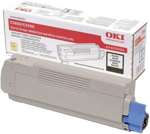 OKI Toner C5800 C5900 43324424 Original Schwarz 6000 Seiten