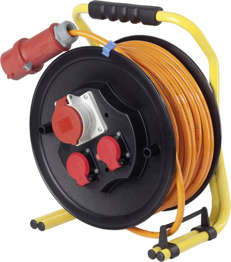 Kabeltrommel 25 m Orange CEE-Stecker as - Schwabe 20668