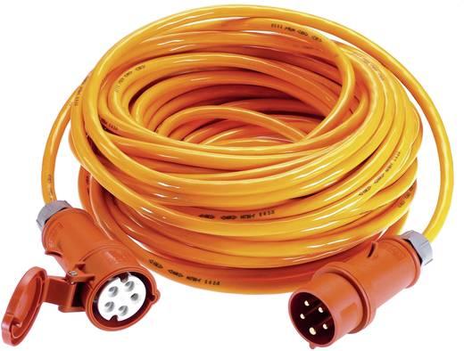 Strom Verlängerungskabel [ CEE-Stecker - CEE-Kupplung] 32 A Orange 25 m mit Phasenwender as - Schwabe 59643