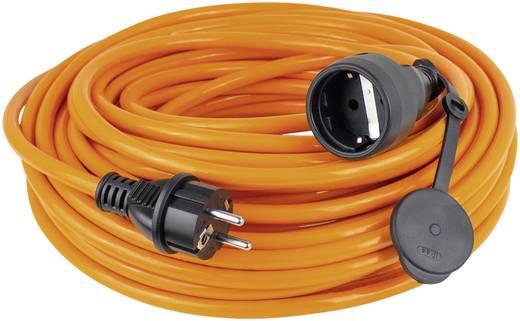 Strom Verlängerungskabel [ Schutzkontakt-Gummi-Stecker - Schutzkontakt-Gummi-Kupplung] Orange 25 m as - Schwabe 59125