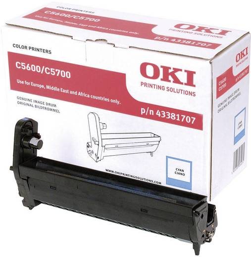 OKI Trommeleinheit Drum Unit C5600 C5700 43381707 Original Cyan 20000 Seiten