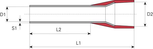 Aderendhülse 1 x 1 mm² x 8 mm Teilisoliert Rot Vogt Verbindungstechnik 470308 100 St.