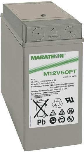Bleiakku 12 V 47 Ah GNB Marathon M 12 V 50 FT UL94 NAMF120050VM0MA Blei-Vlies (AGM) (B x H x T) 107 x 231 x 280 mm M6-Sc
