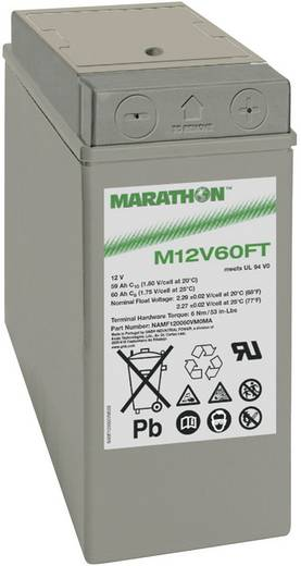 Bleiakku 12 V 59 Ah GNB Marathon M 12 V 60 FTUL4 NAMF120060HM0MA Blei-Vlies (AGM) (B x H x T) 107 x 263 x 280 mm M6-Schr