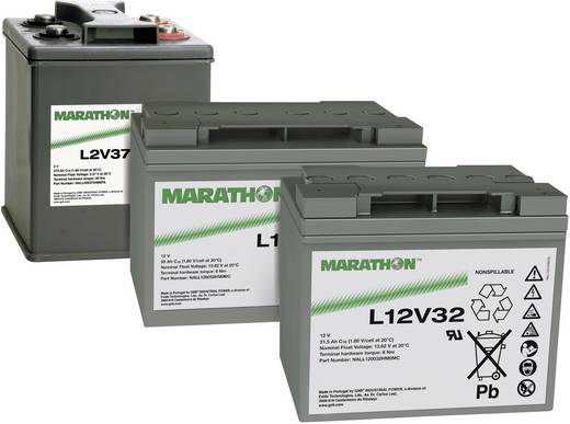 Bleiakku 12 V 85.7 Ah GNB Marathon XL12V85 NAXL120085HM0FA Blei-Vlies (AGM) (B x H x T) 309 x 223 x 172 mm M6-Schraubanschluss Wartungsfrei