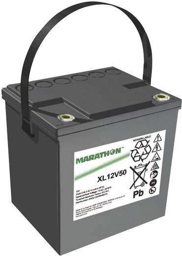 Bleiakku 12 V 50.4 Ah GNB Marathon XL12V50 NAXL120050HM0FA Blei-Vlies (AGM) (B x H x T) 220 x 219 x 172 mm M6-Schraubanschluss Wartungsfrei