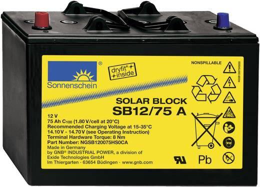 Solarakku 12 V 75 Ah GNB Sonnenschein Solar-Block SB12/75 A NGSB120075HS0CA Blei-Gel (B x H x T) 330 x 236 x 171 mm Konu
