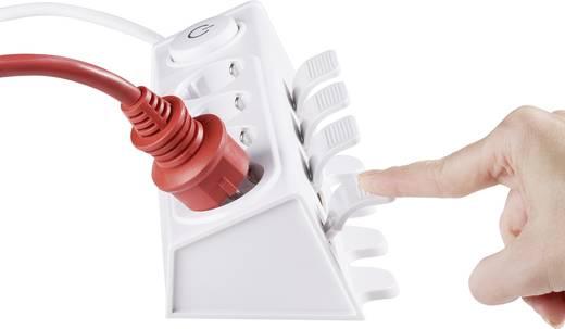 618275 Steckdosenleiste mit Schalter 4fach Weiß Schutzkontakt