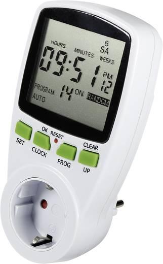 Steckdosen-Zeitschaltuhr digital Wochenprogramm 618495 3680 W IP20 Countdown-Funktion, Zufallsfunktion