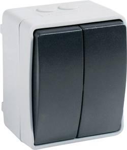Vypínač GAO Standard, 9875, dvojitý, šedá