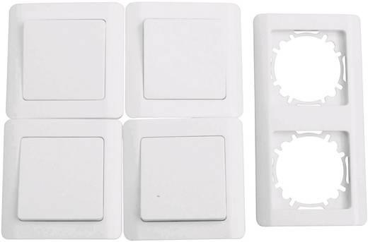 4fach Unterputz-Schalter Set Weiß 620191