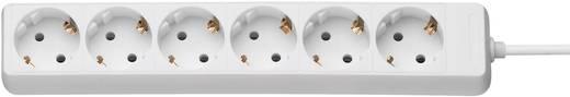 Steckdosenleiste ohne Schalter 6fach Weiß Schutzkontakt GAO DY-06/9275C7