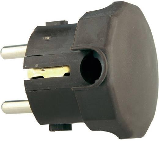 Schutzkontakt-Winkelstecker Kunststoff 230 V Braun IP20