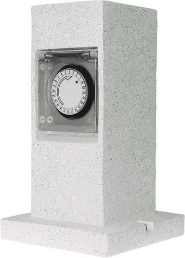elro gl40t gartensteckdose mit zeitschaltuhr 2fach stein grau kaufen. Black Bedroom Furniture Sets. Home Design Ideas