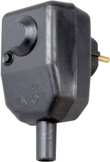 Schutzkontakt-Winkelstecker Kunststoff mit PRCD 230 V Schwarz IP54 Kopp 1761.0801.6
