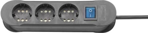 Steckdosenleiste mit Schalter 3fach Schwarz Schutzkontakt Kopp 2235.0501.0