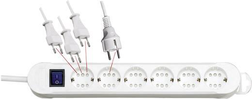 Steckdosenleiste mit Schalter 6fach Weiß Schutzkontakt Kopp 2236.0201.0