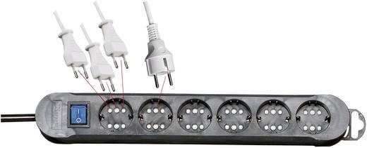 Kopp 2236.0501.3 Steckdosenleiste mit Schalter 6fach Schwarz Schutzkontakt