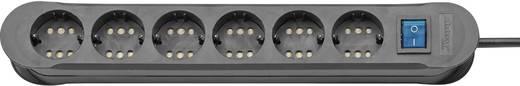 Steckdosenleiste mit Schalter 6fach Schwarz Schutzkontakt Kopp 2236.0501.3
