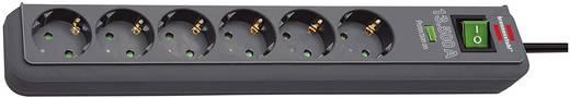 Überspannungsschutz-Steckdosenleiste 6fach Schwarz Schutzkontakt Brennenstuhl 1159700015