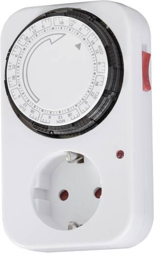 Steckdosen-Zeitschaltuhr analog Wochenprogramm GAO 0762 3680 W IP20