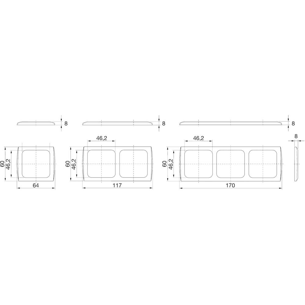 inprojal elektrosysteme 1x Frame White from Conrad.com