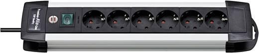 Brennenstuhl 1391000016 Steckdosenleiste mit Schalter 6fach Schwarz, Aluminium Schutzkontakt